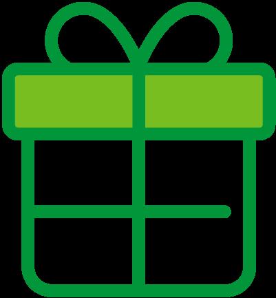Icône cadeau, chèque-cadeau