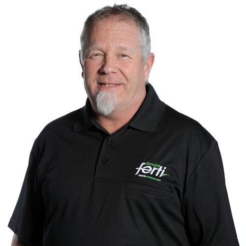Dany Boissonneault Technicien senior pelouse de l'équipe Groupe Ferti