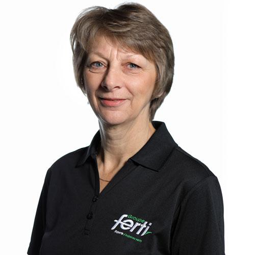 Linda Marceau Conseillère à la clientèle volet opérationnel de l'équipe Groupe Ferti