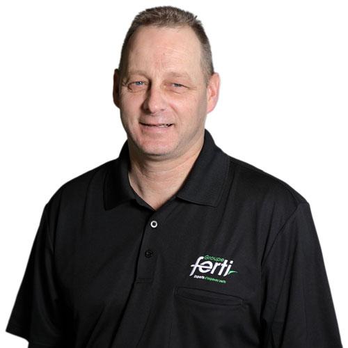 Patrick Breton Coordonnateur des ventes Conseiller technique de l'équipe Groupe Ferti