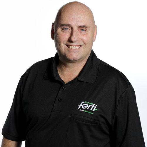 Vincent Marcotte Technicien pelouse et opérateur en entretien de l'équipe Groupe Ferti